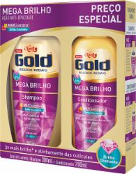 KIT NIELY GOLD SH 300ML COND 200ML MEGA BRILHO