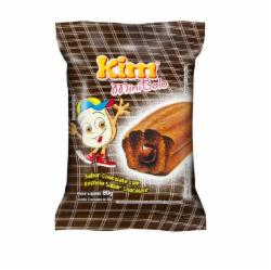 MINI BOLO DUPLO KIM 80G CHOCOLATE C/CHOCOLATE