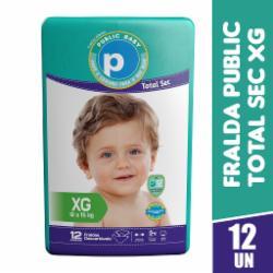 Fralda Public Baby Total Sec Jumbinho XG com 12