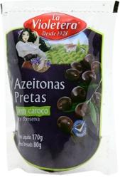 Azeitona La Violetera Preta 80g sem Caroco Doy Pack