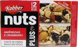 Barra Nuts Kobber 50g Amendoas E Cramberry