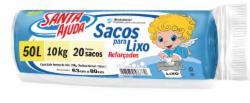 SACO LIXO SANTA AJUDA C/20 SACOS 50L AZUL