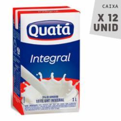 Leite Quatá 1L Integral - Caixa com 12 unidades