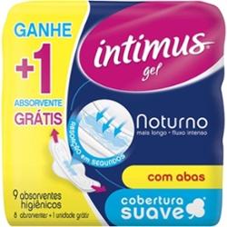 Absorvente Intimus Gel Noturno Lv9 Pg8 com Ab Suave