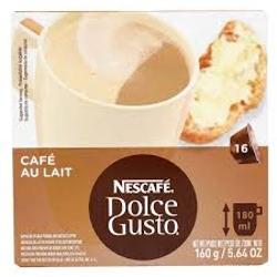 NESCAFE DOLCE GUSTO 160G CAFE AU LAIT CAIXA C/16