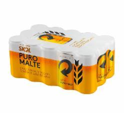 Cerveja Skol Puro Malte 269ml - Caixa com 15 unidades