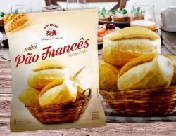 Mini Pão Francês Pré Assado Hot Bread 250g