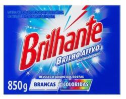 Lava Roupas em Pó Brilhante 850g Brilho Ativo Cartucho