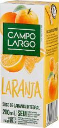 Suco Campo Largo 200ml Laranja Integral
