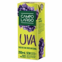 Suco Campo Largo 200ml Uva Integral