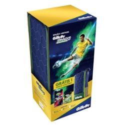 Kit Gillette Mach3 Sensitive + 2 Cargas + Porta Chuteira Copa do Mundo