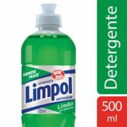Detergente Líquido Limpol 500ml Limão