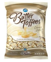 Bala Arcor Butter Toffe 130g Choc Branco