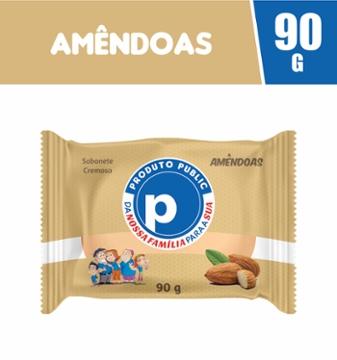 Sabonete Public 90g Amêndoas