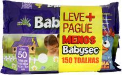 Toalha Umedecida Babysec com 50 com 3 Lv+ Pg-