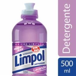 Detergente Líquido Limpol 500ml Lavanda