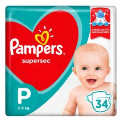Fralda Pampers Supersec P com 34