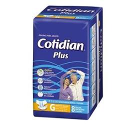 Fralda Adulto Cotidian Plus G com 8
