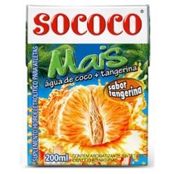 Água de Coco Sococo 200ml Tangerina Tp