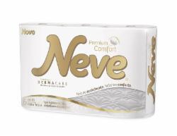 Papel Higiênico Neve Premium Comfort Folha Tripla 6 rolos 20m