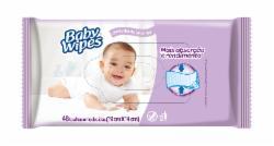 Toalha Umedecida Huggies Baby Wipes com 48 Lavanda