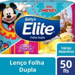 Lenço Elite Folha Dupla 50 Folhas Kids