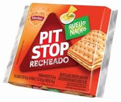 Bisc Pit Stop Rech 105g Queijo Nacho