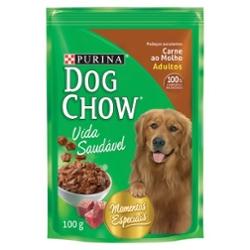 Alimento para Cães Dog Chow Sachet 100g Carne Molho