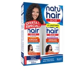 Kit Shampoo + Condicionador Sos Natu Hair 300ml Argan