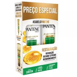 Kit Pantene Shampoo 400ml Condicionador 175ml Restauração