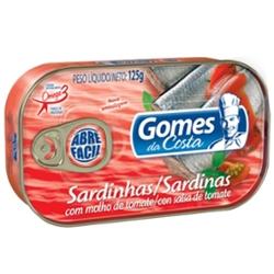 Sardinha Gomes Costa 125g Tomate