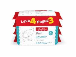 Pack Leve 4 Pague 3 Toalhas Umedecidas Fisher Price com Perfume