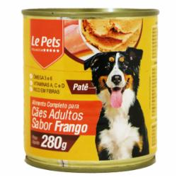 Alimento Cães Adulto Lata Frango 280G Le Pets