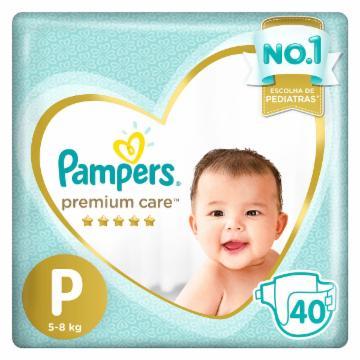 Fralda Pampers Premium Care P com 40