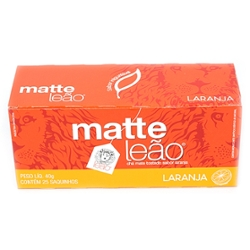 Cha Matte Leao Laranja 40g com  25 Saquinhos