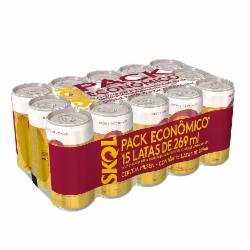 Pack 15 Cervejas Skol Pilsen 269ml Lata