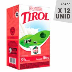 Leite Tirol 1L Integral - Caixa com 12 unidades