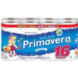 PAPEL HIGIENICO PRIMAVERA PLUS 30M L16P15 S/PERF
