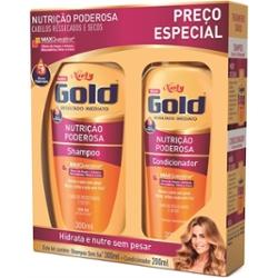 KIT GOLD SH+COND 200ML PRECO ESP. NUTR.PODER