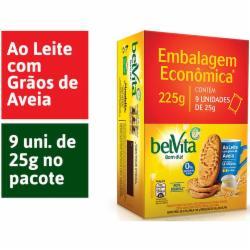 BISC. BELVITA 225G LEITE C/AVEIA