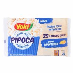 PIPOCA YOKI POPCORN 90G MANTEIGA