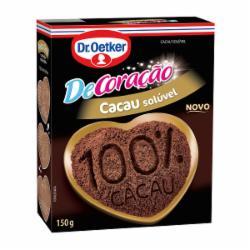 CHOCOLATE DR OETKER 100% CACAU 150g EM PO