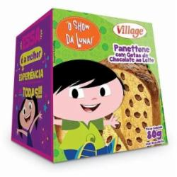 MINI PANETONE VILLAGE LUNA 80G GOT/CHOC