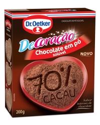 CHOCOL. DR OETKER 70% CACAU 200G EM PO