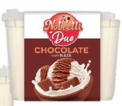 SORVETE NOBRELLI 1,8lt DUO NATA/CHOCOLATE