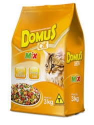 RACAO DOMUS P/GATOS ADULT 1K MIX PC