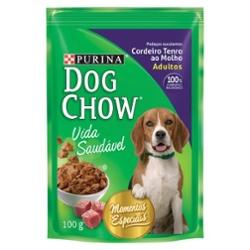 RACAO DOG CHOW P/CAES ADUL. 100G CORDEIRO AUN