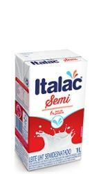 LEITE ITALAC UHT 1LT SEMI DESNATADO