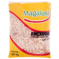 AMENDOIM MAGALUSI TORRADO 1,010KG C/CASCA