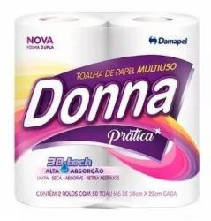 PAPEL TOALHA DONNA C/2 BRANCA
